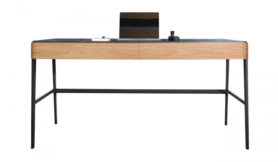 BOUVET DESK IN OAK WOOD AND MARQUINA MARBLE