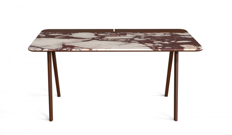 CALACATTA VIOLA MARBLE AND RED WINE LACQUERED