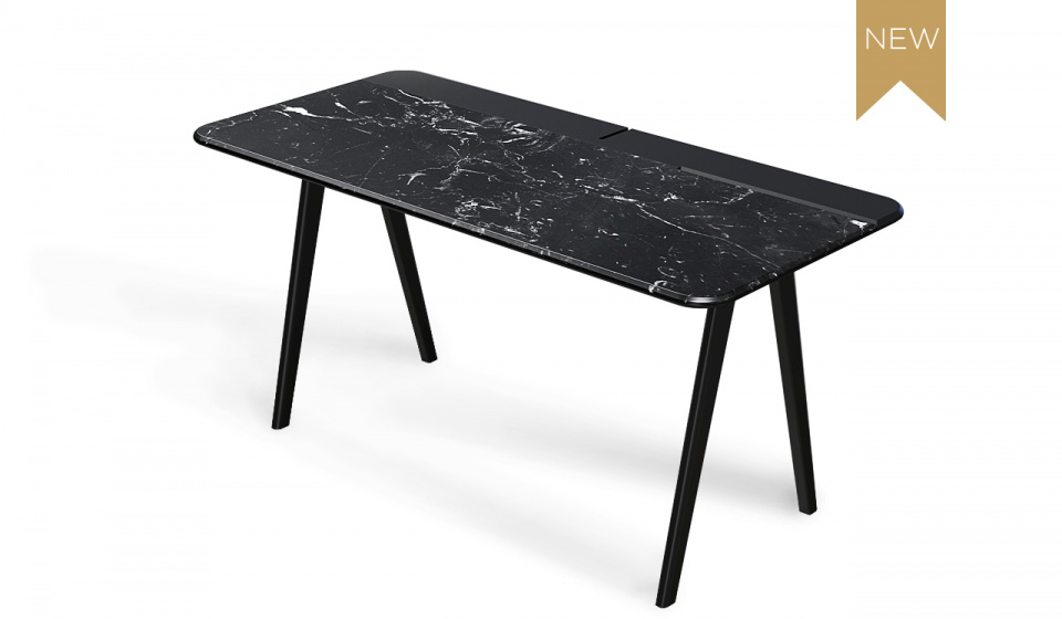 NERO MARQUINA MARBLE AND BLACK LACQUERED