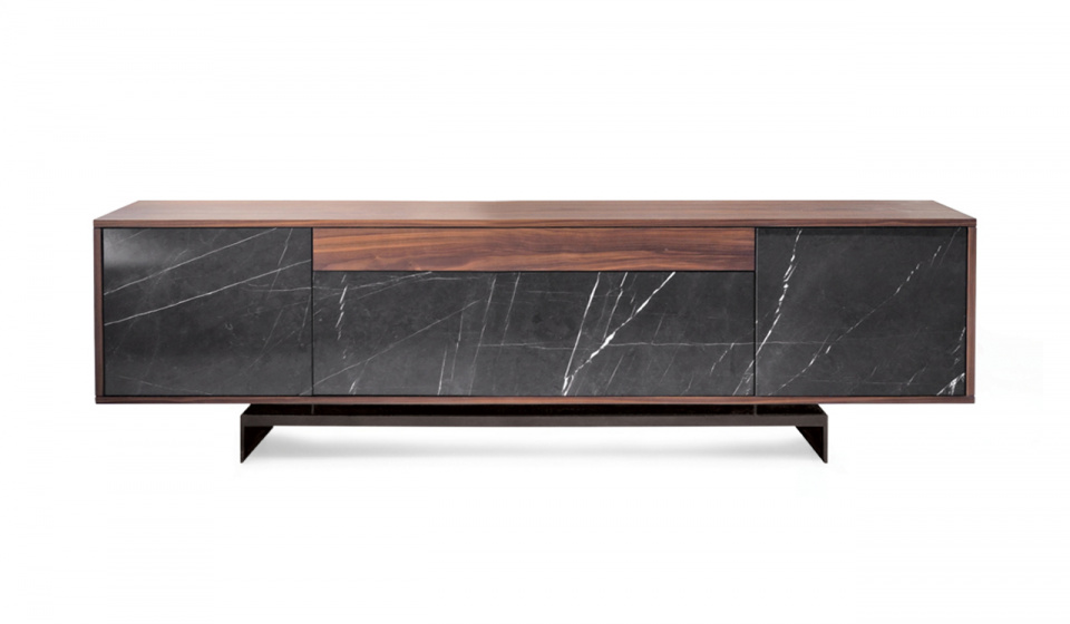 Grammi s grey kendzo marble and walnut wood
