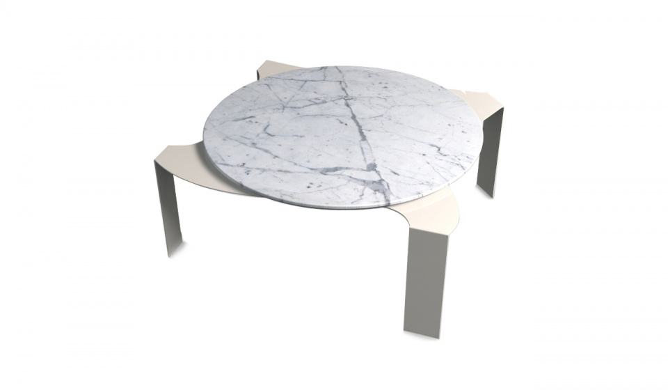 CARRARA MARBLE AND METAL LACQUERED