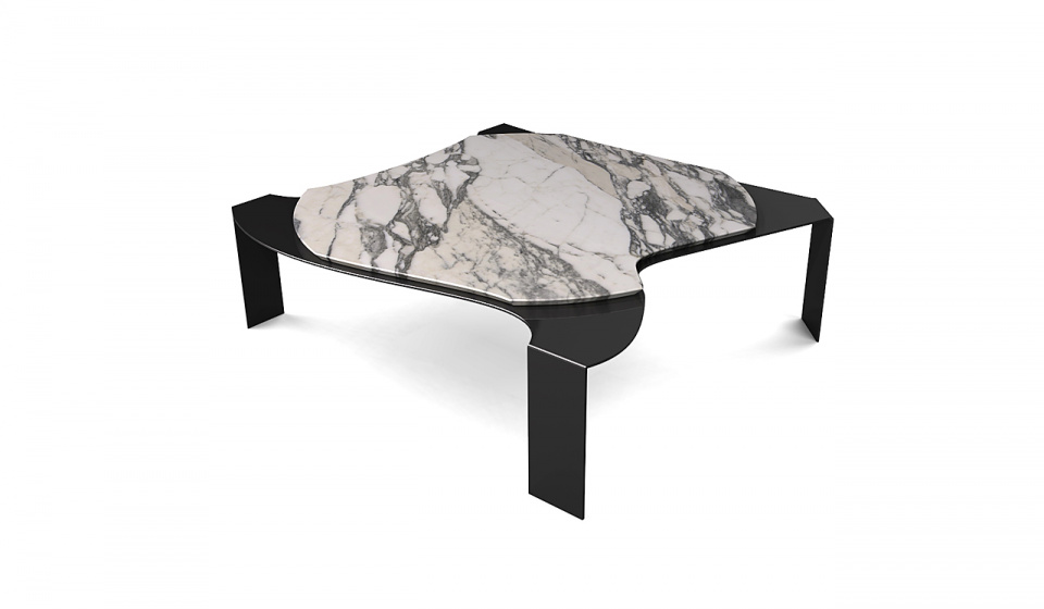 ARABESCATO MARBLE AND METAL LACQUERED