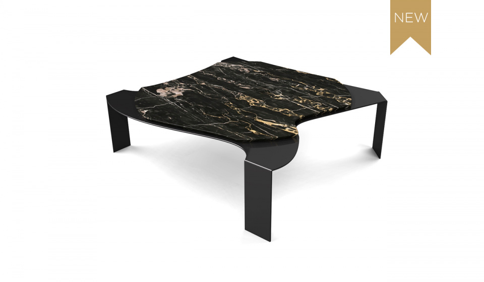 PORTORO MARBLE AND METAL LACQUERED